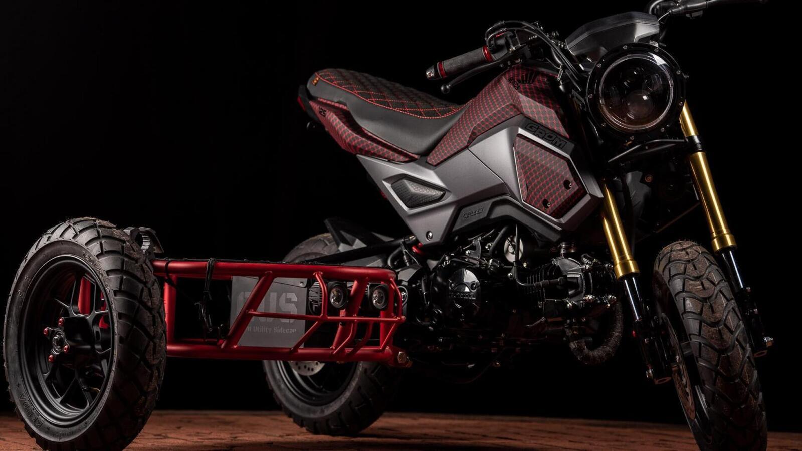 Honda MSX độ thành sidecar 3 bánh cực độc cho dân chơi xe côn tay