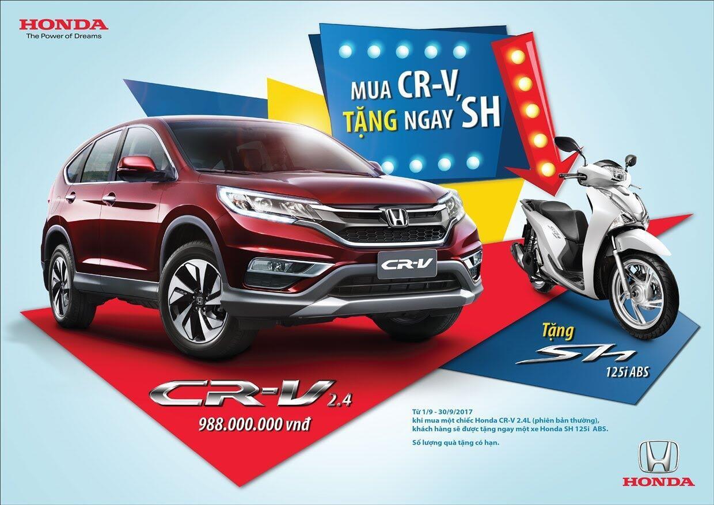 """Honda Việt Nam triển khai chương trình khuyến mại đặc biệt """"Mua CR-V, tặng ngay SH"""" - Hình 2"""