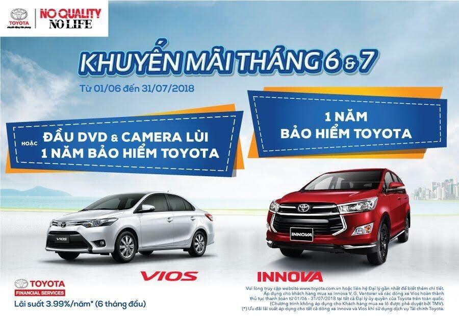 Khuyến mãi tháng 6 - 7/2018 cho khách hàng mua Toyota Vios và Innova - Hình 1