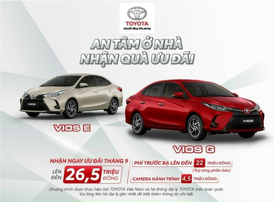 Chương Trình Khuyến Mãi Toyota Vios