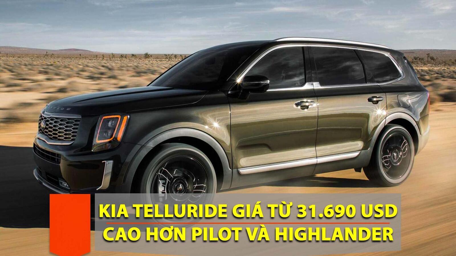 Kia Telluride 2020 có giá khởi điểm cao hơn Toyota Highlander hay Honda Pilot - Hình 1