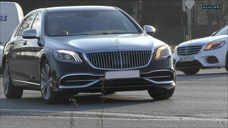 Lộ hình ảnh Mercedes-Maybach S-Class 2019 trên phố trước thềm Geneva 2018 - Hình 1