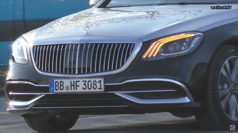 Lộ hình ảnh Mercedes-Maybach S-Class 2019 trên phố trước thềm Geneva 2018 - Hình 2