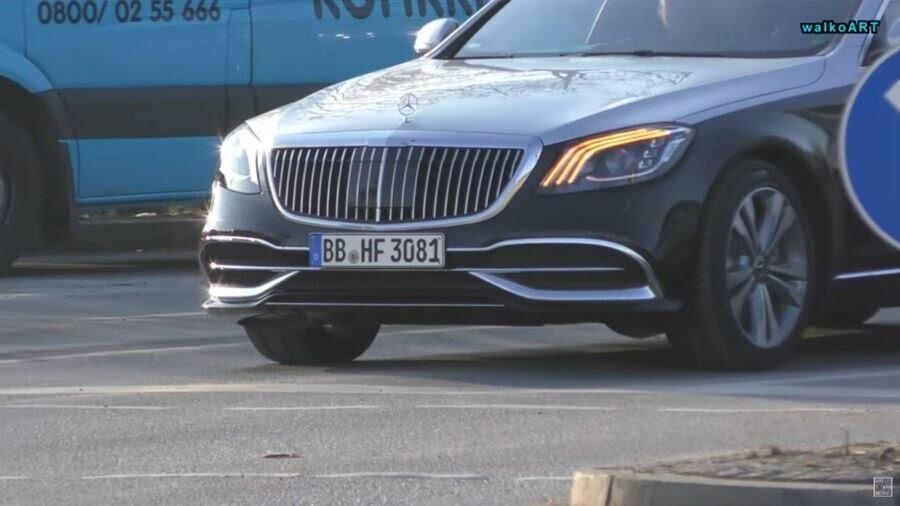 Lộ hình ảnh Mercedes-Maybach S-Class 2019 trên phố trước thềm Geneva 2018 - Hình 5