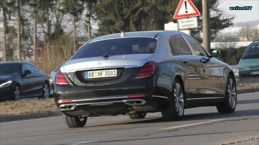 Lộ hình ảnh Mercedes-Maybach S-Class 2019 trên phố trước thềm Geneva 2018 - Hình 6
