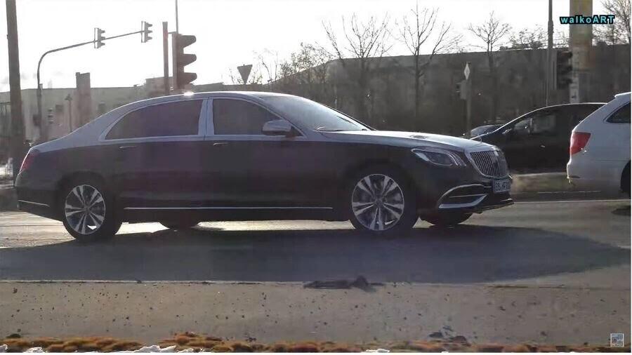 Lộ hình ảnh Mercedes-Maybach S-Class 2019 trên phố trước thềm Geneva 2018 - Hình 8
