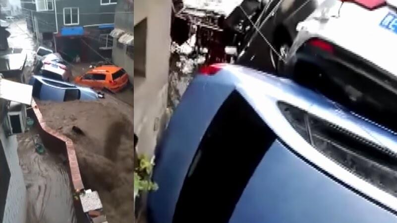 Lũ cuốn phăng ôtô xe máy, người dân bỏ của chạy lấy người - Hình 1