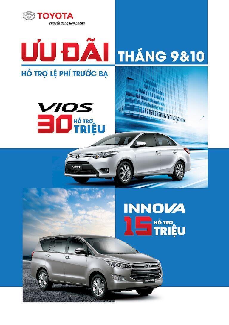Mua Toyota Vios, Innova nhận quà tặng lên đến 30 triệu đồng trong tháng 9,10/2017 - Hình 1