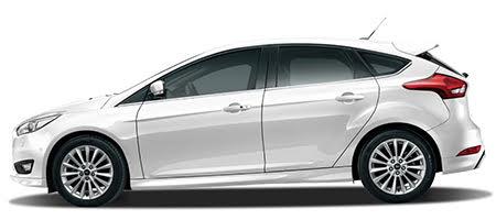 Ford Focus phiên bản màu trắng kim cương