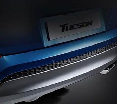 Cản sau của Hyundai Tucson được thiết kế đẹp mắt