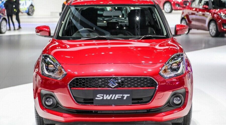 Đầu xe Swift với rất nhiều chi tiết thiết kế tinh tế