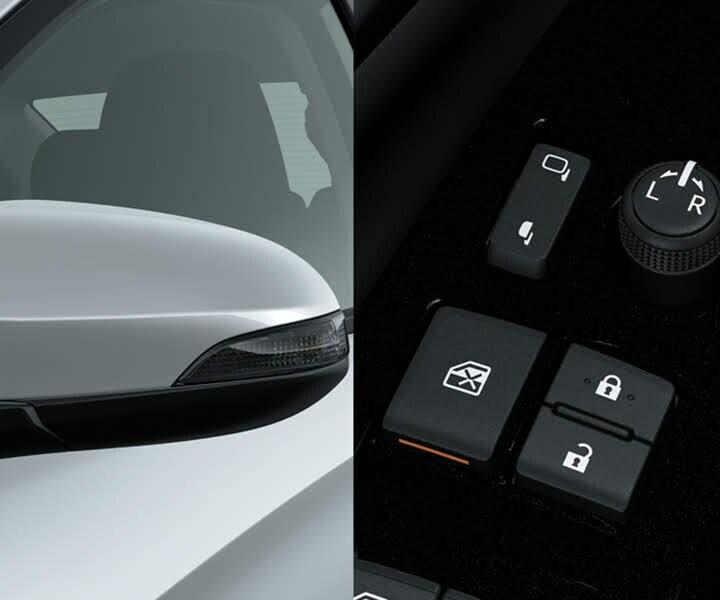 Gương chiếu hậu tích hợp đèn báo rẽ tăng tính thuận tiện và an toàn khi điều khiển xe