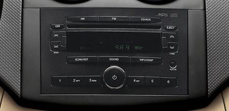 Ổ CD/MP3 cùng cổng kết nối AUX (iPod) tiện nghi