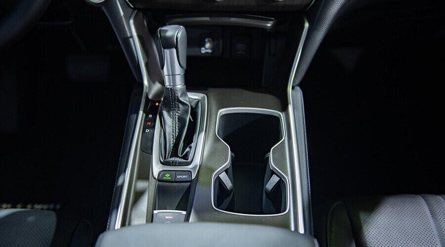 Nút bấm điều khiển cho phép chuyển nhanh chế độ ECO và Sport