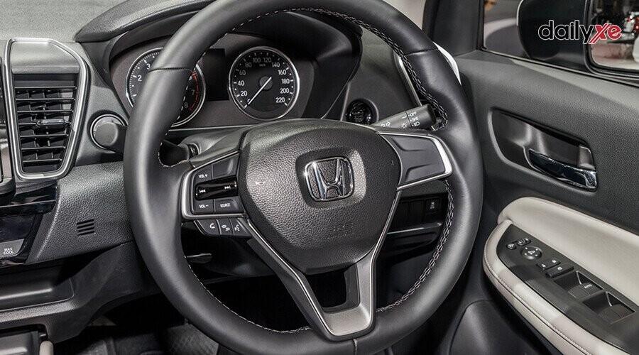 Vô-lăng của Honda City dạng 3 chấu bọc da