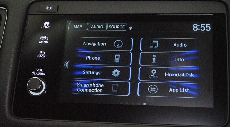 HR-V màn hình giải trí hiện thị đa thông tin
