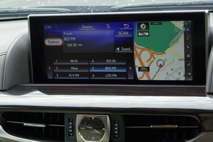 Màn hình tính năng định vị GPS