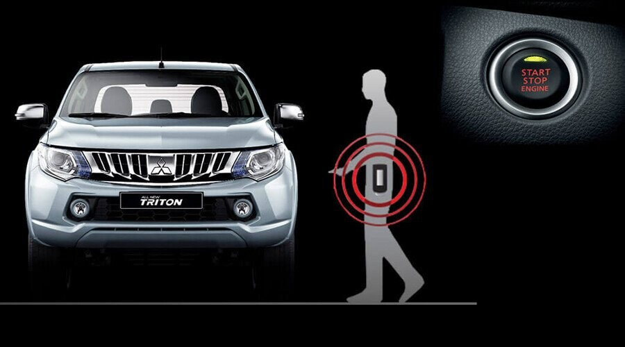Chìa khóa thông minh (KOS) và khởi động bằng nút bấm (OSS) Mitsubishi Triton
