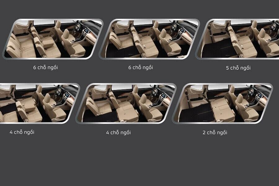 7 chỗ với sắp xếp ghế linh hoạt