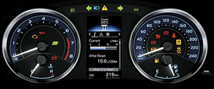 Bản đồng hồ và màn hình hiển thị đa thông tin