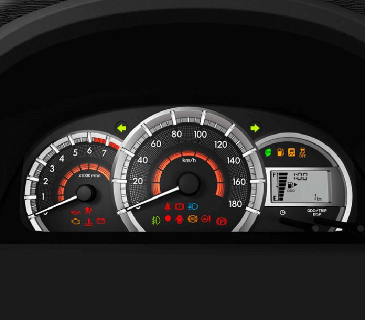 Màn hình analog với 3 vòng đồng hồ kết hợp màn hình hiển thị đa thông tin