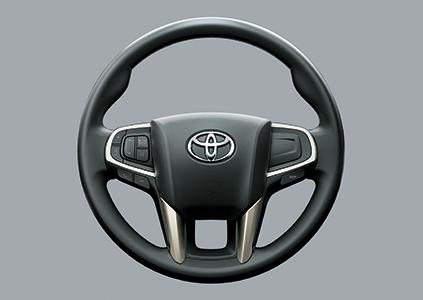 Tay lái với chất liệu urethane đồng thời tích hợp các nút điều chỉnh.