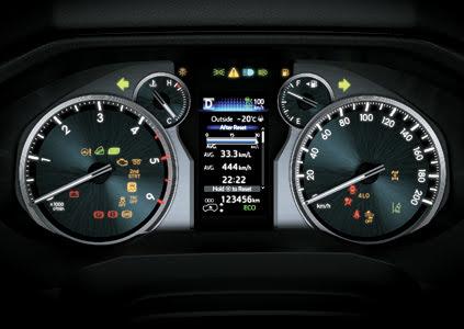 Bảng đồng hồ tích hợp màn hình hiển thị đa thông tin.