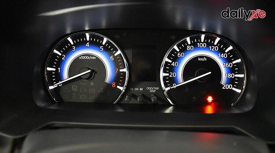 Màn hình analog thể hiện rõ nét tốc độ xe và một số chỉ báo khác.