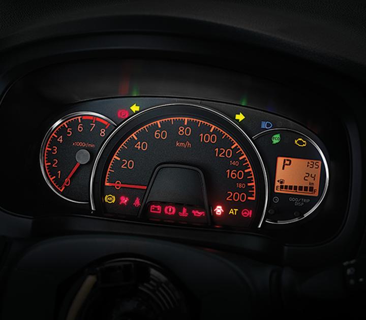 Bảng đồng hồ trung tâm được bố trí tập trung về hướng người lái tạo sự thuận tiện cho việc quan sát khi lái xe