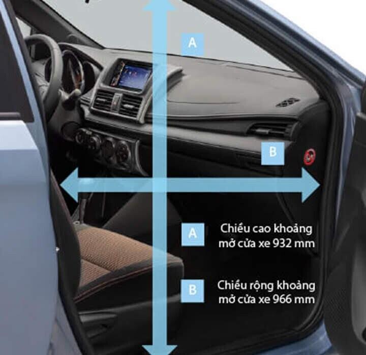 Khoảng mở cửa xe được mở rộng giúp chủ sở hữu dễ dàng di chuyển ra vào