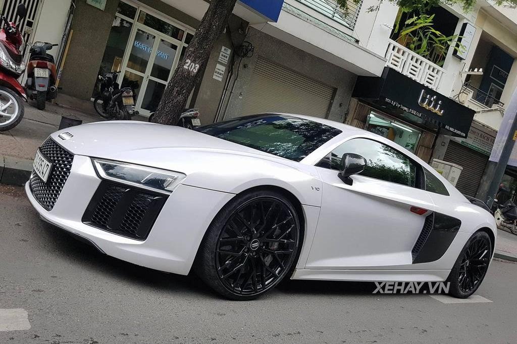 Sài Gòn: Audi R8 V10 Plus lặng lẽ xuất hiện trên phố - Hình 1