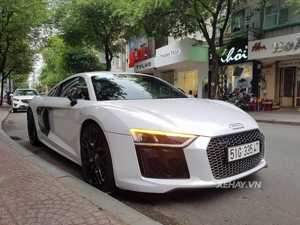 Sài Gòn: Audi R8 V10 Plus lặng lẽ xuất hiện trên phố - Hình 2