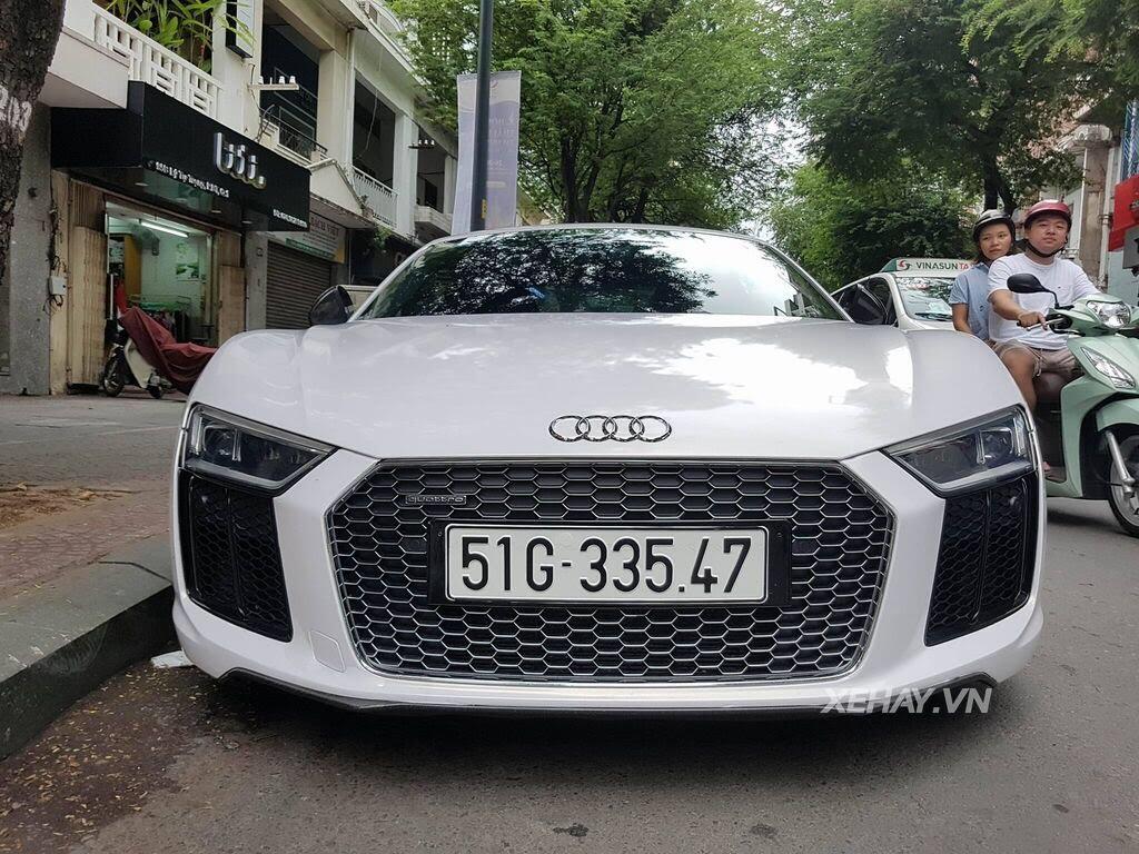 Sài Gòn: Audi R8 V10 Plus lặng lẽ xuất hiện trên phố - Hình 3