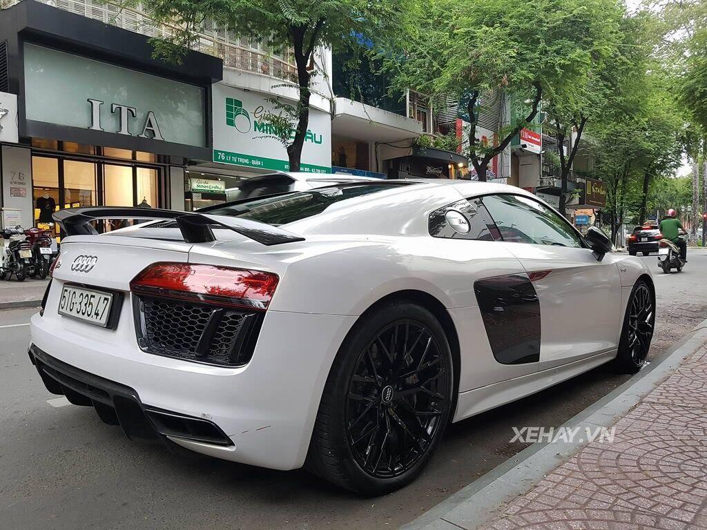 Sài Gòn: Audi R8 V10 Plus lặng lẽ xuất hiện trên phố - Hình 5
