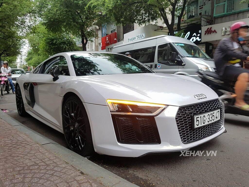 Sài Gòn: Audi R8 V10 Plus lặng lẽ xuất hiện trên phố - Hình 7
