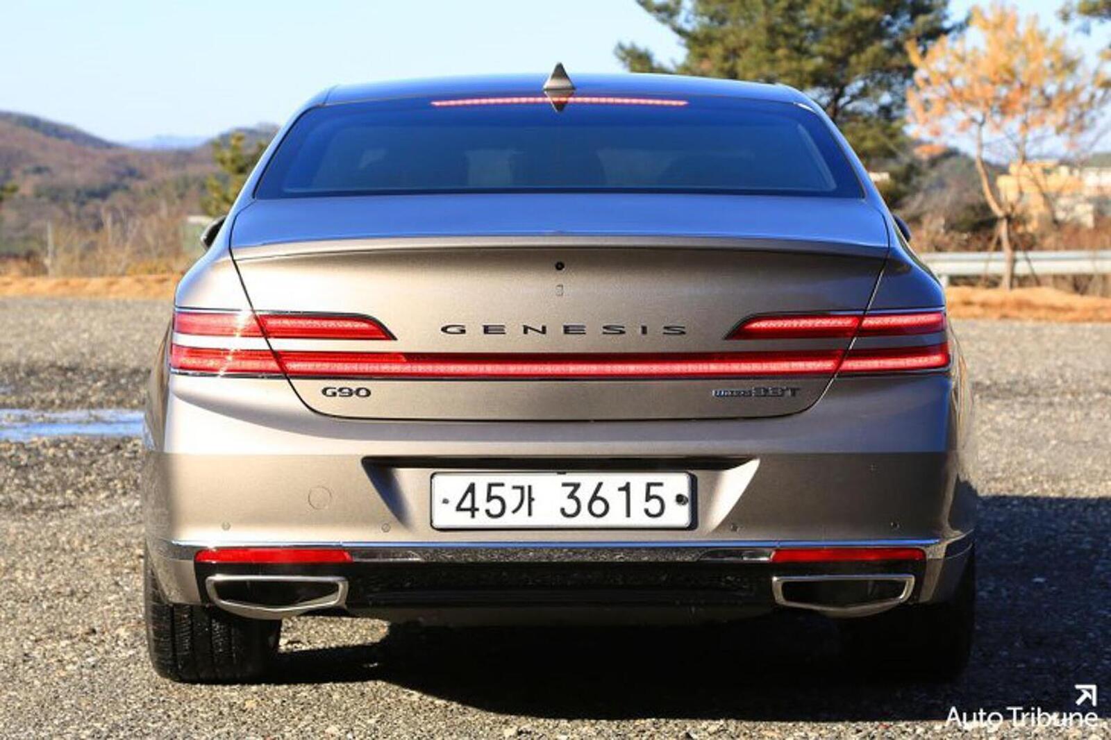 Sedan hạng sang Genesis G90 2020 mới ra mắt cuối tháng 11/2018 lộ ảnh cực nóng - Hình 2