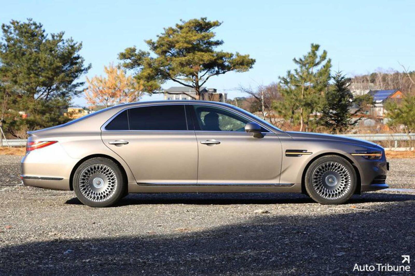 Sedan hạng sang Genesis G90 2020 mới ra mắt cuối tháng 11/2018 lộ ảnh cực nóng - Hình 4