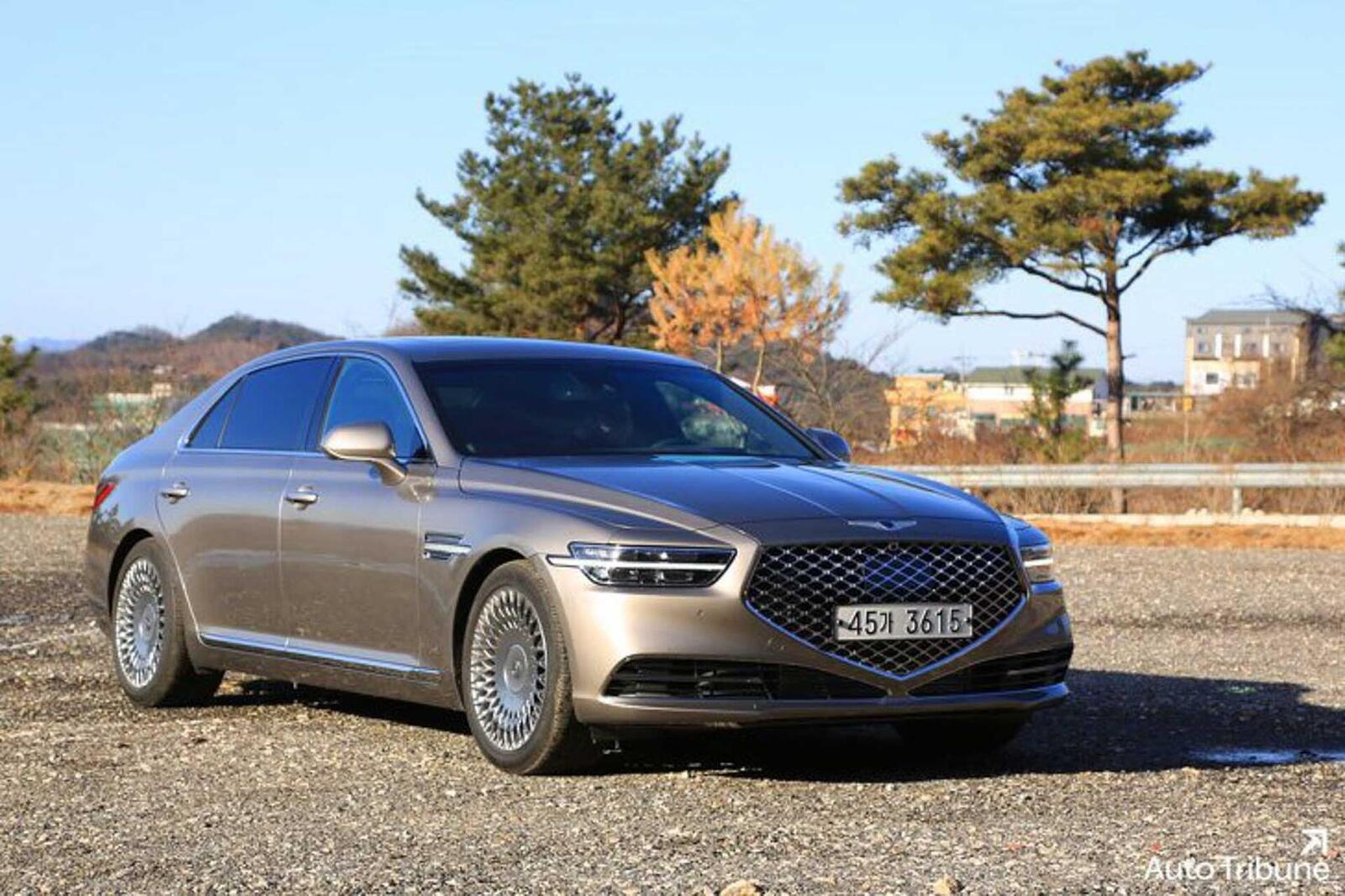 Sedan hạng sang Genesis G90 2020 mới ra mắt cuối tháng 11/2018 lộ ảnh cực nóng - Hình 5