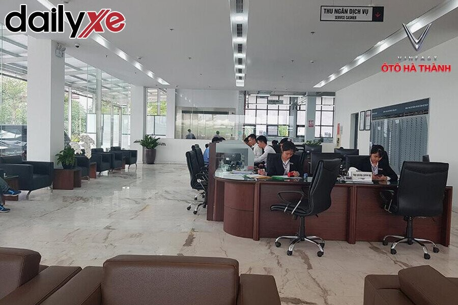 Khu vực tiếp nhận yêu cầu của khách hàng tại Vinfast Hà Thành