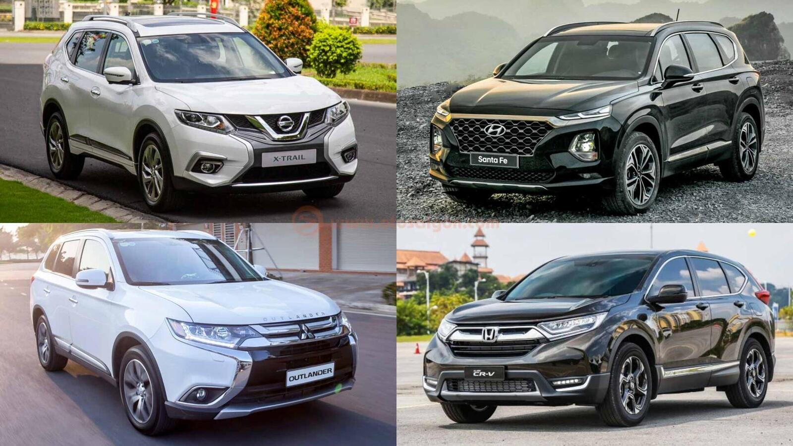 So sánh Hyundai Santa Fe 2019 với các đối thủ trong phân khúc SUV - Hình 1