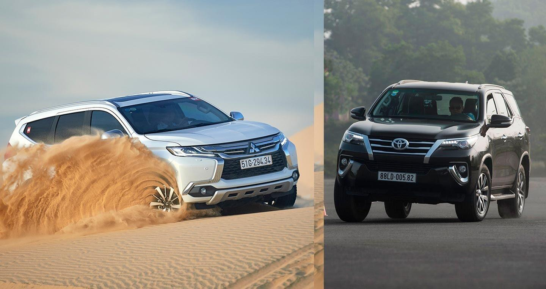 So sánh Mitsubishi Pajero Sport 2017 và Toyota Fortuner 2017 - Hình 1