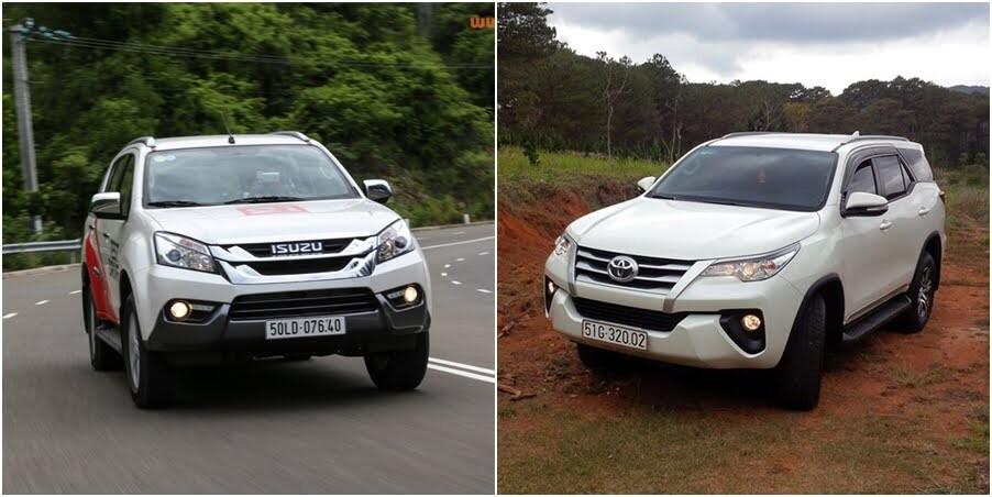 So sánh Toyota Fortuner 2017 và Isuzu mu-X: chọn SUV 7 chỗ Diesel nào với 1 tỷ đồng? - Hình 1