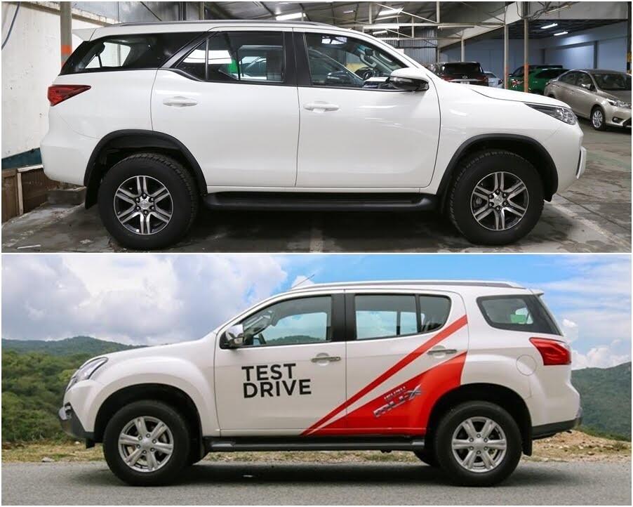 So sánh Toyota Fortuner 2017 và Isuzu mu-X: chọn SUV 7 chỗ Diesel nào với 1 tỷ đồng? - Hình 3