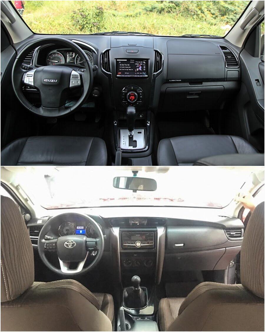 So sánh Toyota Fortuner 2017 và Isuzu mu-X: chọn SUV 7 chỗ Diesel nào với 1 tỷ đồng? - Hình 5