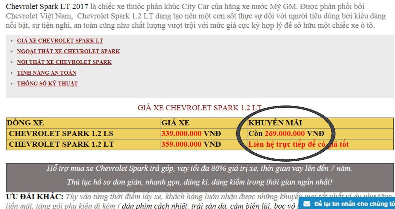 """Spark """"hạ giá"""" còn 269 triệu đồng, rẻ nhất thị trường - Hình 2"""