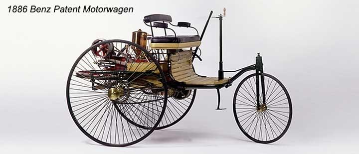 Model xe đầu tiên vào tháng 2/1886