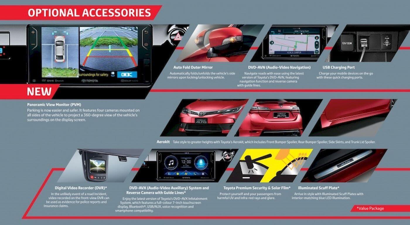 Toyota Corolla Altis 2017 tại Malaysia được bổ sung thêm một số trang bị hiện đại - Hình 2
