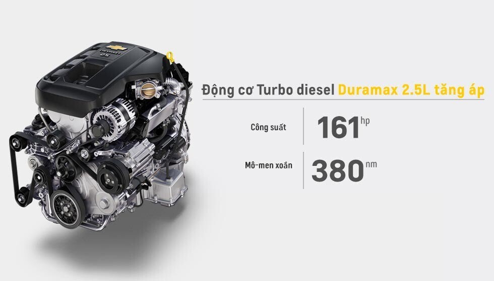 Phiên bản Turbo diesel Duramax 2.5L linh hoạt