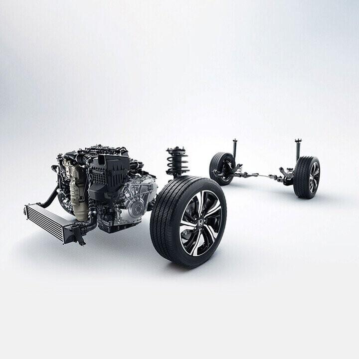 Civic sở hữu khung gầm và hệ thống treo thiết kế mới với độ cứng vững cao