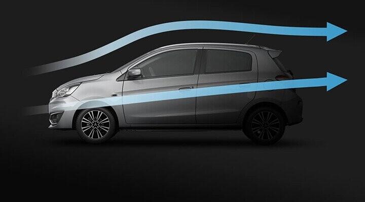 Thiết kế khí động học giúp xe luôn ổn định khi vận hành, giảm tiếng ồn